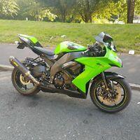 kawasaki Ninja ZX10R 58 2008 1000cc Super Motor Bike, Extras, Low Miles