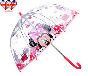 Disney's Minnie Mouse Transparent Umbrella, Kids Umbrella Official Licensed
