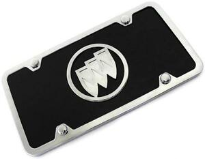 Buick Logo ACRYLIC Front License Plate Novelty Black Gloss Authentic