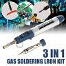 3in 1 Butane Gas Cordless Soldering Iron Kit Electronic Torch Heat Solder Tool