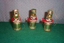 3 DRUMMER BOY CHRISTMAS TREE ORNAMENTS cute