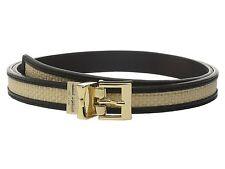 $65 KATE SPADE New York 20MM Reversible Belt Sz Medium Black/Straw