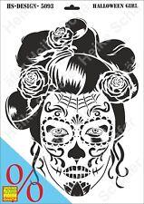 Schablone-Stencil A3 299-5093- Halloween Girl -Neu- Heike Schäfer Design