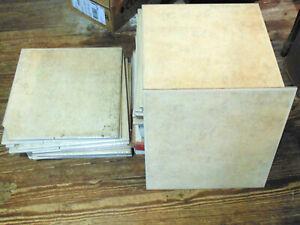 Ceramica DaVinci Ceramic Floor Tile LOT 16 x 16 Matte Beige Abstract 2 Full Box