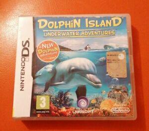 NINTENDO DS GAME DOLPHIN ISLAND UNDERWATER ADVENTURES COMPLETE UBISOFT 3+ 3DS