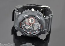 BLACK SPORTS WATCH Mens Digital & Analogue Quartz Movement Water Resistant 50m