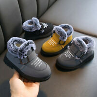 Toddler Baby Winter Kids Boy Girls Boots Shoes Plush Soft Sole Snow Booties Shoe