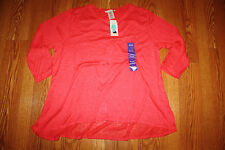 NWT Womens Philosophy Wild Watermelon Hi Low Pullover Top Sweater Size XXL
