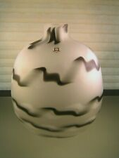 "1980's Memphis Group Style Glass Vase 10"" Tarnowiec Poland"