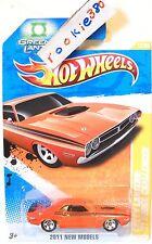 2011 Hot Wheels NEW MODELS #12 * GREEN LANTERN: '71 DODGE CHALLENGER * ORANGE