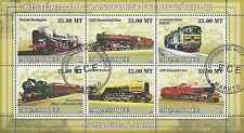 Timbres Trains Mozambique 2596/2601 o année 2009 lot 1100 - cote : 19,80 euros