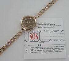 SOS Brazalete Pulsera// alerta médica/emergencia/Acero Inoxidable para Damas/Para hombre talismán