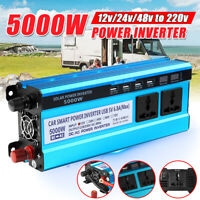 5000W Solar Power Sine Wave Inverter 12V/24V/48 DC to 220V AC Car/Home Caravan