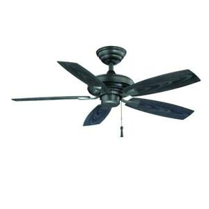 Hampton Bay Gazebo II 42 in. Indoor/Outdoor Natural Iron Ceiling Fan YG187-NI
