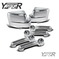 Chrome For 2007-2012 DODGE NITRO JEEP LIBERTY 2008-2013 Mirror+4Dr Handle Covers