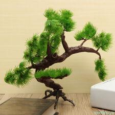 Green Aquarium Plants Pine Tree Ornament Plant Fish Tank Plastic Decoration DQ6W