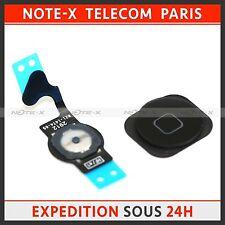 Black Home Menu Button Key Cap+Flex Ribbon Cable Replace for iPhone 5  black