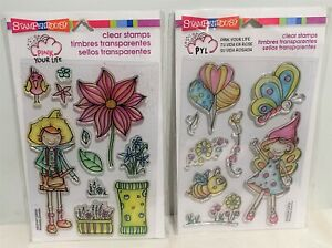 Stampendous FAIRIES Fairy Nicoletta Zanella Clear Boy Girl Rubber Stamps Lot