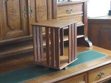 kleines Tisch Bücherkarussell Bücherrondel drehbar Vollholz antikes Bücherregal