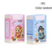 2 colors Cute Match Rubber Pencil Eraser Set Stationery Children Gifts# Ele S9X6
