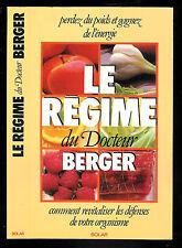 """Le régime du Docteur Berger """" Perdez du poids et gagnez de l'énergie """" Solar"""