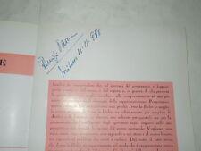 VITTORIO GASSMAN-IN IRMA LA DOLCE-CON AUTOGRAFO DI REMIGIO PAONE- MI 11/11/1958