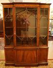 Beautiful Mahogany Kittinger Three Door Bookcase China Cabinet Breakfront