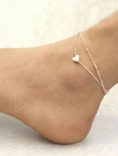 Chain Anklet Heart Detail Layered