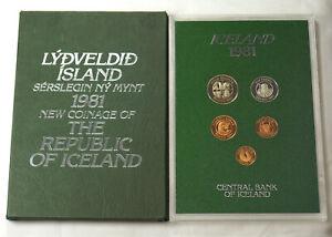 ICELAND 1981 PROOF SET - WONDERFUL TONING