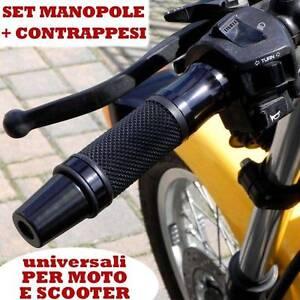 SET DI CONTRAPPESI + MANOPOLE NERO MOTO GUZZI GRISO STELVIO BELLAGIO BREVA