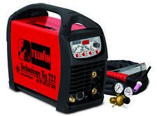 TELWIN SALDATRICE INVERTER TECHNOLOGY TIG 222 AC/DC HF/LIFT 230 V + ACCESSORI