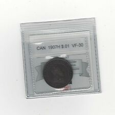 **1907H**, Coin Mart Graded Canadian, Large One Cent, **VF-30**