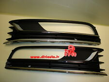 VW PASSAT B7 2011 - 2014 FRONT BUMPER GRILLE LEFT and RIGHT with 1 chrome stripe