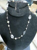 Silpada Sterling Silver Freshwater Pearl Crystal Bead Necklace