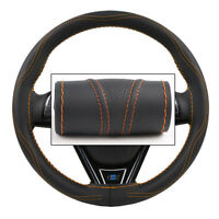 Hand sewing Micro Fiber Leather Car Steering Wheel 38cm  Universal Protector