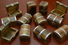 20 PCS CARVED TREASURE CHEST JEWELRY TRINKET WOOD BOXES #F-391