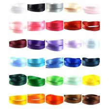 "Satin Ribbon 13mm (1/2"" inch) - 35 Plain Coloured Double Sided / Faced Ribbon"