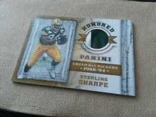 2017 Panini HONORED Sterling Sharpe 2CLR Jersey Patch /25! PACKERS!