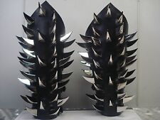 LEATHER CLAW SPIKE GAUNTLETS. BLACK METAL (MDLG0045)..... ABSURD'S