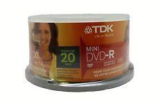 """20 TDK 3""""/8cm Mini DVD-R 4X 1.4GB Brand New"""