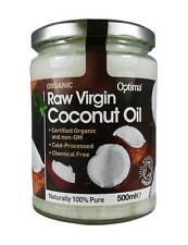 Optima Organic Raw Virgin Coconut Oil 500ml Cooking Health Hair