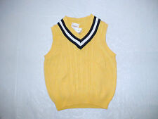 NWT GYMBOREE SPRING CELEBRATIONS YELLOW NAVY SWEATER VEST EASTER