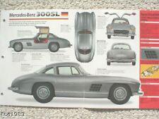 MERCEDES-BENZ 300sl GULLWING SPEC Hoja / brochure-1955,