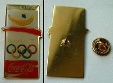 OLD OLYMPIC pin button badge Barcelona 1992 Coca Cola