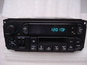 JEEP Liberty DODGE Ram Neon Caravan Dakota Radio Tape Player Disc Changer Ctrls