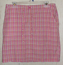CUTE WOMENS J.G. HOOK COLLECTION PLAID SKIRT SIZE 12