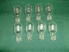 906 clear incandescent automotive light bulb, 14 volt, wedge base, 8 pcs