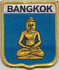 Thailand Bangkok Buddha Image Shield Embroidered Patch Badge