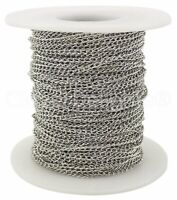 330 Feet Bulk Roll 100 Meters Gunmetal Curb Chain Spool 2x3mm Link