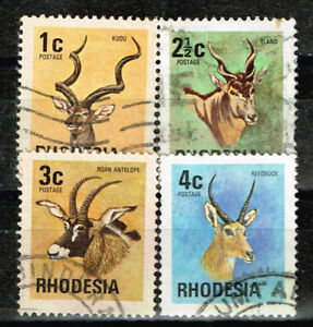 Northern Rhodesia Colonial African Fauna Wiled Horned Animalse stamps 1956 A-2